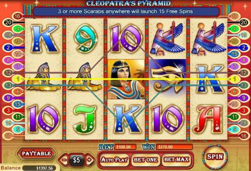 Cleopatra's Pyramid review on Review Slots
