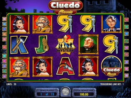 Cluedo - Classic Review Slots free spins feature game board