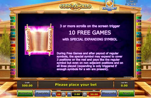 Coin of Apollo Review Slots Free Game Rules