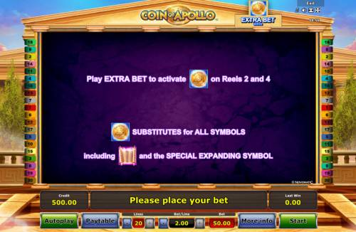 Coin of Apollo Review Slots Extra Bet