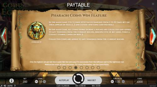 Coins of Egypt Review Slots