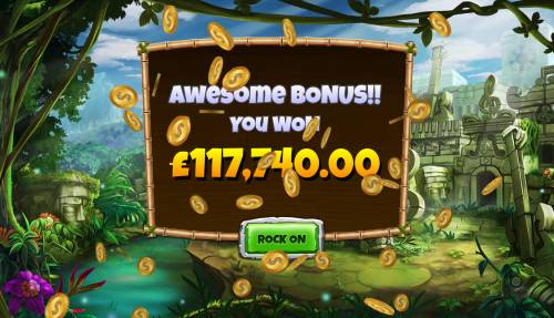 Congo Bongo Review Slots Total free games payout 117740 coins