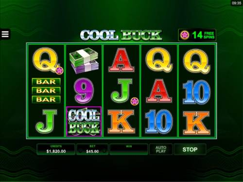 Cool Buck 5 Reel Review Slots You can collect pink during game play. The pink stars may appear attached to low value symbols A, K, Q, J, 10 or 9.