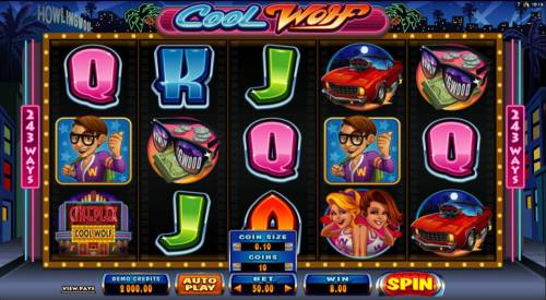 Cool Wolf Review Slots Main game board featuring five reels and 243 ways to win
