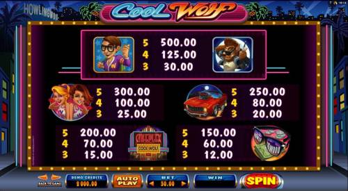 Cool Wolf Review Slots High value game symbols paytable