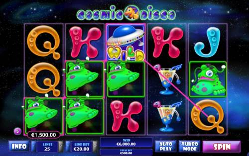 Cosmic Disco Review Slots Multiple winning paylines triggers a big win!