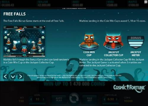 Cosmic Fortune Review Slots Free Falls Bonus Game Rules