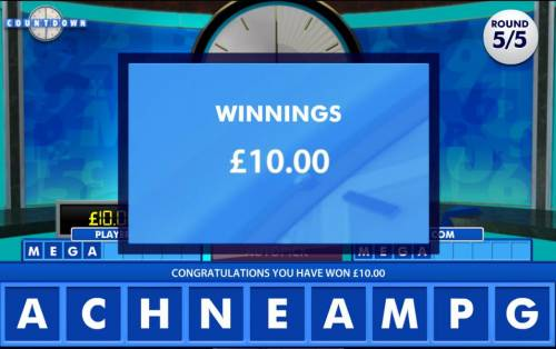 Count Down Review Slots bonus feature pay out