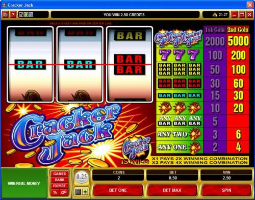 Cracker Jack review on Review Slots