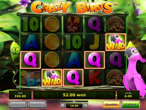 Crazy Birds Review Slots A winning five of a kind