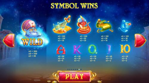 Crazy Genie Review Slots Slot game symbols paytable