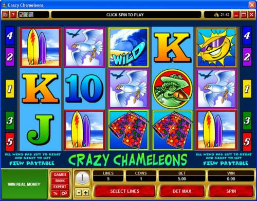 Crazy Chameleons review on Review Slots
