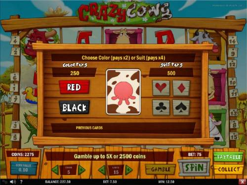 Crazy Cows Review Slots Gamble Feature Game Board