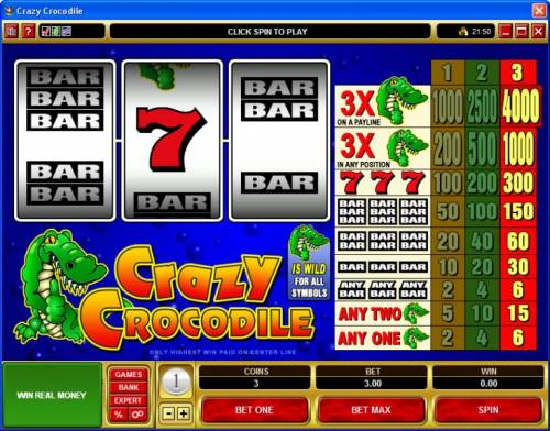 Crazy Crocodile review on Review Slots