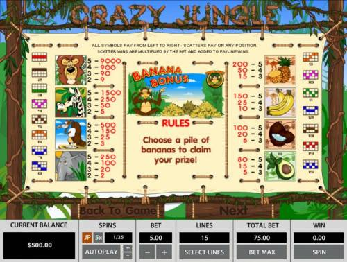 Crazy Jungle review on Review Slots
