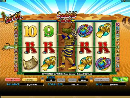 Crocodopolis Review Slots expanded wild on reel 3 triggers a 600 coin big win