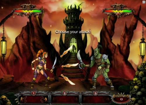 Crusade of Fortune Review Slots choose your attack from the three available swords