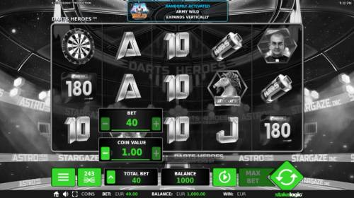 Darts Heroes Review Slots Click on the BET button to adjust the coin size and numbers of lines played.