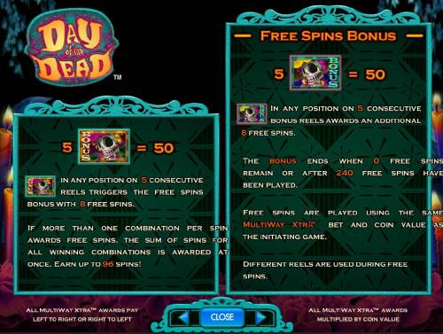 Day of the Dead Review Slots Bonus Symbol and Free Spins Bonus Game Rules
