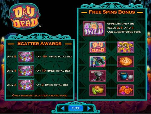 Day of the Dead Review Slots Scatter Awards and Free Spins Bonus