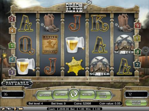 Dead or Alive Review Slots scatter payout