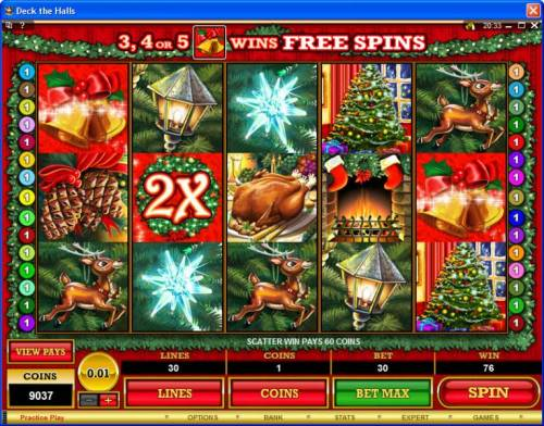 Deck the Halls review on Review Slots