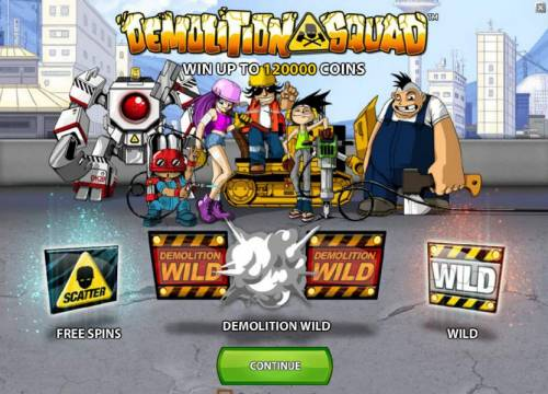 Demolition Squad Review Slots win up to 120000 coins