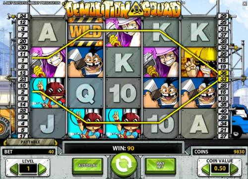 Demolition Squad Review Slots two paylines trigger a 90 coin jackpot
