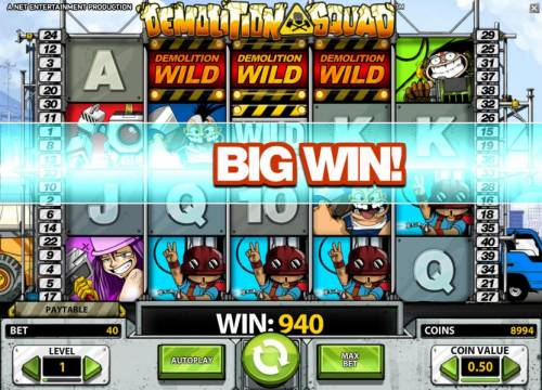 Demolition Squad Review Slots demolition wild triggers a 940 big win payout