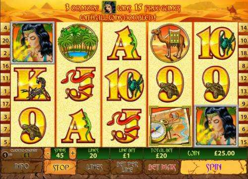 Desert Treasure II Review Slots two scatter symbols lead to a jackpot
