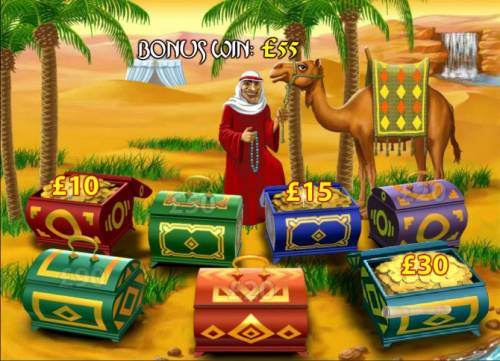 Desert Treasure II Review Slots each chest has a prize but only one has a map