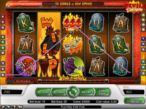 Devil's Delight Review Slots expanding wild symbol