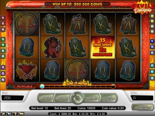 Devil's Delight Review Slots select a pentagram to see how many free games you are awarded.