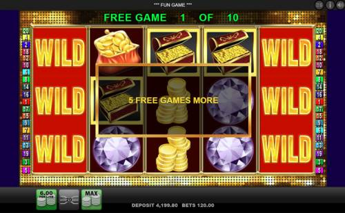 Diamond Casino Review Slots 5 free spins awarded