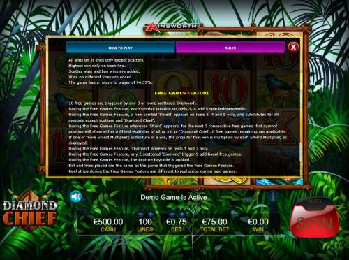 Diamond Chief Review Slots Free Games Feature Rules