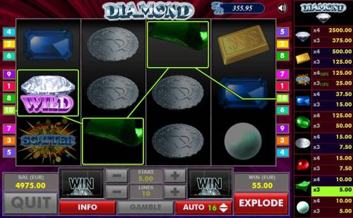 Diamond Review Slots Newly dropped symbols trigger an additional win for the player