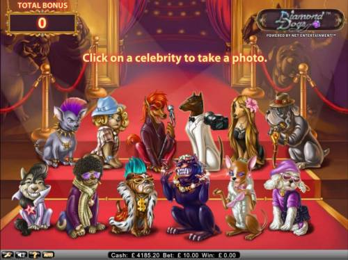 Diamond Dogs Review Slots click on a celebrity to collect your jackpot