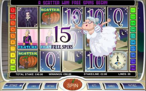 Diamond Slipper Review Slots Three scatter symbols triggers 15 free spins.