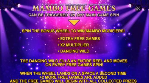 Dirty Dancing Review Slots Mambo Free Games can be triggered on any main game spin.