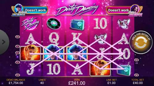 Dirty Dancing Review Slots Multiple winning paylines triggers a big win!