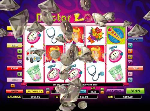 Doctor Love Review Slots a $192 big win triggered by multiple winning paylines