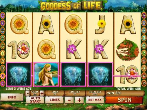 Goddess of Life review on Review Slots