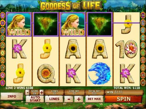 Goddess Of Life™ Slot Machine Game to Play Free in Playtechs Online Casinos