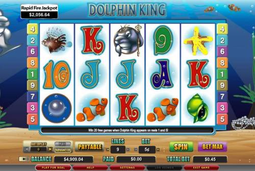 Dolphin King review on Review Slots
