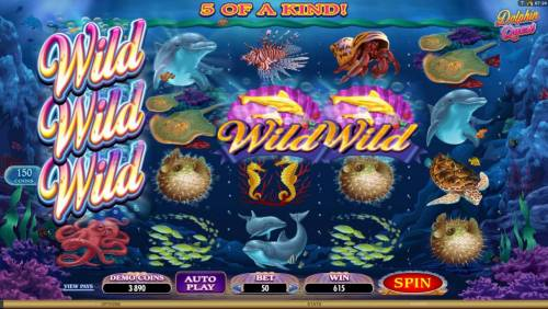 Dolphin Quest Review Slots five of a kind leads to a big win