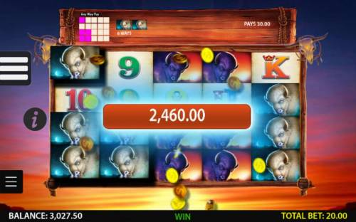 Double Buffalo Spirit Review Slots A 2,460.00 big win triggered by multiple winning ways.