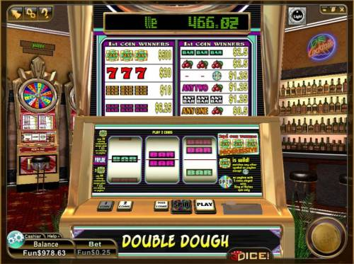 Double Dough Review Slots main game board featuring 3 reels and a single payline