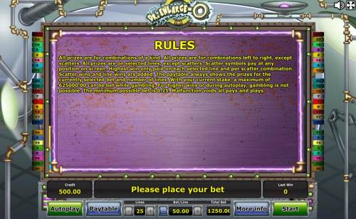 Dr. Enlarge-O Review Slots General Game Rules