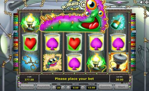 Dr. Enlarge-O Review Slots Expanding Wild Monster feature triggered.