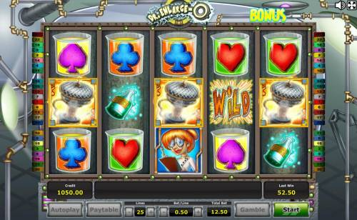 Dr. Enlarge-O Review Slots Three scatter symbols on anywhere reels triggers the Free Games Bonus feature.